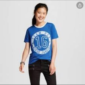 Mighty Fine T-Shirt Graphic 2016 Olympics Blue M